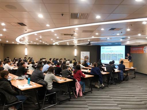 圖二_SGS黃世忠副總裁分享知識管理標竿案例獎源起與競賽辦法
