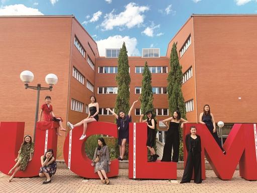 華梵大學海外學習風氣鼎盛,圖為前往西班牙卡斯提亞拉曼查大學交換的美術與文創學系學生。