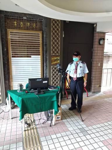 校園設置紅外線體溫偵測儀2
