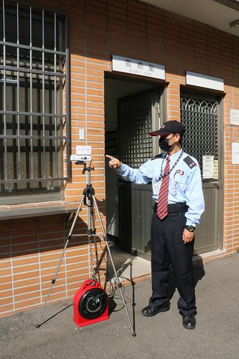校園設置紅外線體溫偵測儀1.