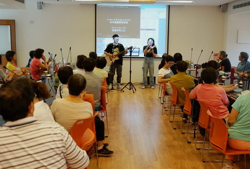 育達科技大學社團吉他社於開幕式表演