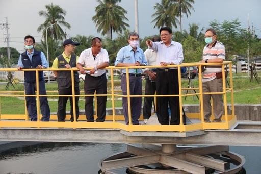 內埔鄉污水下水道系統建設、水資源回收中心工程將完工