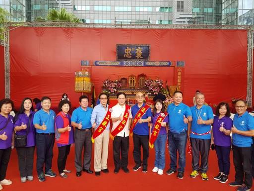 1091017客委會副主委鍾孔炤(左6)出席「新北市客家義民爺嘉年華」安座,與會嘉賓大合照。