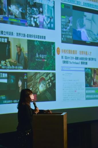 國家實驗研究院國家高速網路與計算中心藝術科技運算組郭嘉真組長發表「LIGHT_UP文化力-以雲端算圖為引擎,打造5G創意城市網絡」