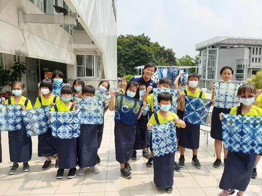 透過DIY讓學童認識藍染之美