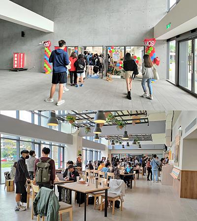 摩斯漢堡臺藝大店試營運首日現場