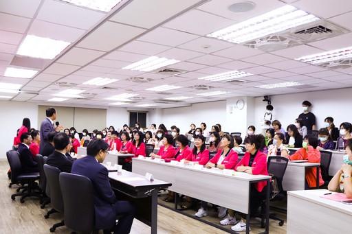 南臺科大110老闆娘學院春季班開訓典禮情形。