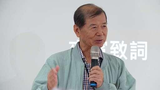 日前佛大校長楊朝祥出席參加展覽,大力支持學生的成果。