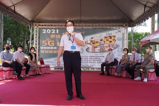 虎科大覺文郁校長致詞並感謝參加此次就業博覽會的廠商,也相信每位虎科大的準畢業生都已經具備足夠面對新世代挑戰的能力