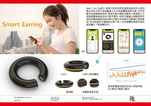 亞大商設系大三陳昱清同學設計的G力測量,在健身房等高分貝環境下的大幅度喘氣預警器。