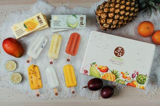 春一枝推出100%台灣水果冰棒禮盒,限量500盒售完為止。