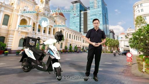 【圖1】2021越南臺灣形象展開幕典禮由貿協董事長黃志芳開場。(貿協提供)