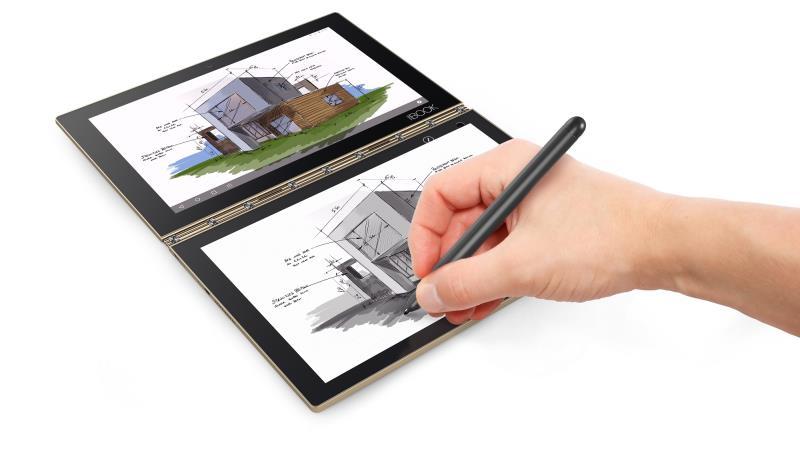 Lenovo展出全新的二合一平板電腦Yoga Book  圖/Lenovo  提供