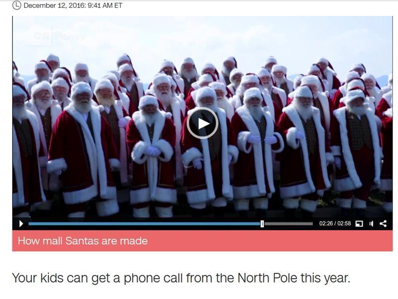 美國「有線電視新聞網」報導,「耶誕老人來電」計畫(SantaPhone)是雲端通訊公司Twilio推出的1款自動化聊天機器人,你可以透過網站提供自己的電話號碼與電子郵件地址,安排耶誕老人總部來電的時間。(圖取自CNN網頁cnn.com)