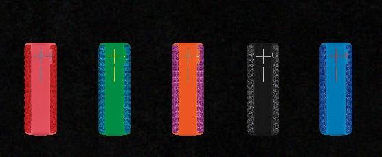 羅技UE無線音箱顛覆性的大膽配色,外型搶眼。