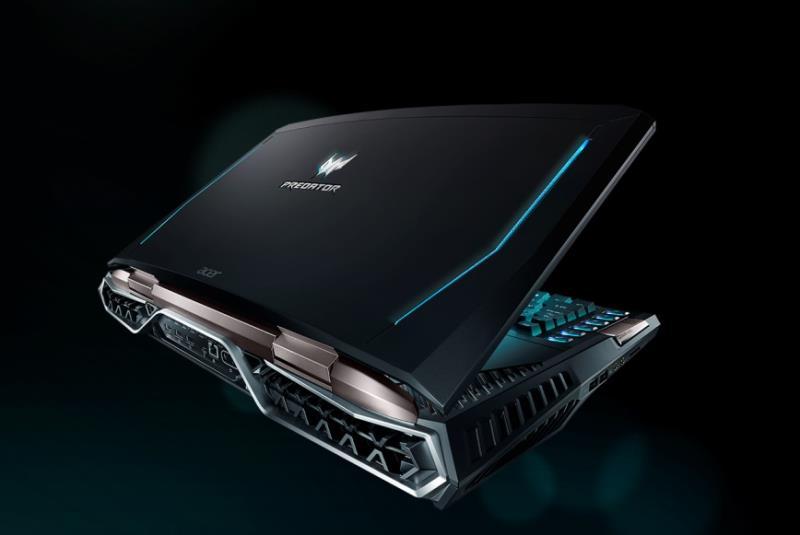 美國CES消費電子展即將開展,宏碁(Acer)搶先發表搭載21吋2560x1080螢幕解析度,以及可達120Hz畫面刷新率的曲面電競筆電Predator 21 X,支援SLI模式的雙NVIDIA GeForce GTX 1080 GPU和第七代Intel Core i7-7820HK可超頻處理器,搭配64GB的DDR4-2400記憶體,提供強大且靈活的性能,預計第1季上市(圖由宏碁提供)