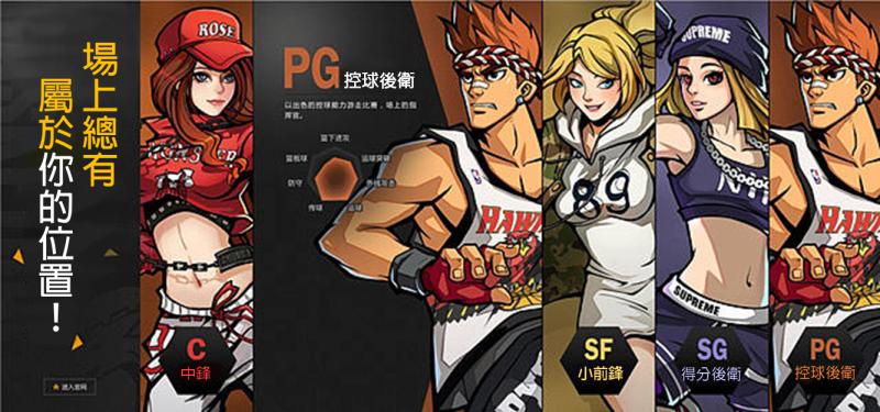 《街頭籃球》遊戲中,玩家可自由選擇自己的角色位置。