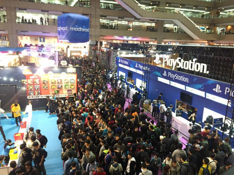 2017台北國際電玩展第一天就吸引許多民眾前來參觀。
