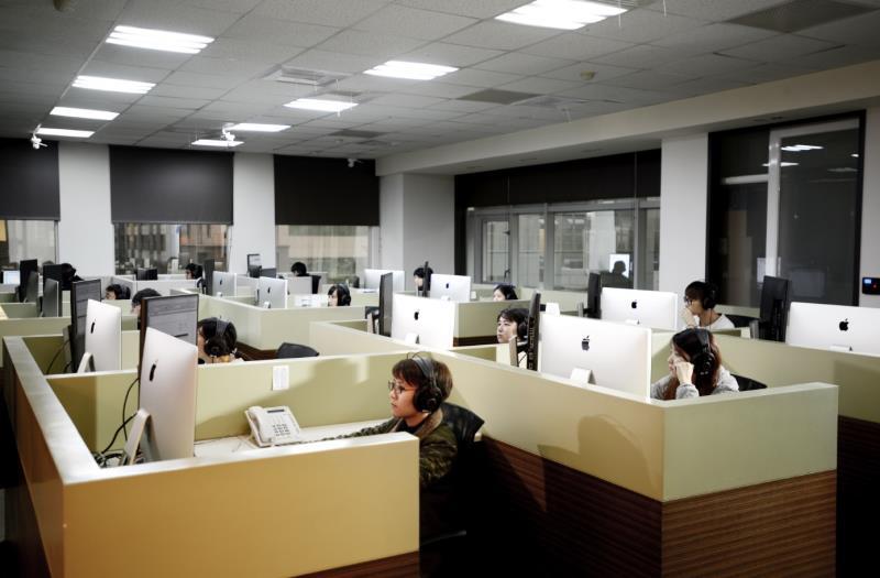 百聿數碼創意台北辦公室,影音後製團隊。