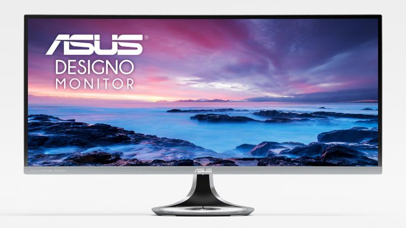 Designo Curve MX34VQ配備長寬21比9、1800R曲度的Ultra-Wide QHD顯示面板,提供寬廣全景視野(圖由華碩提供)