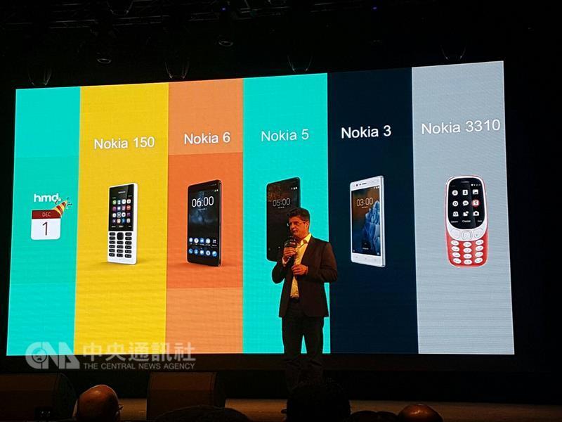 Nokia手機品牌獨家授權商HMD Gloabal Oy(HMD)7日 下午在三創數位生活園區舉行「很高興,再次見到你 Nokia 6新品發表會」,宣布在台推出Nokia 6手機。 中央社記者江明晏攝