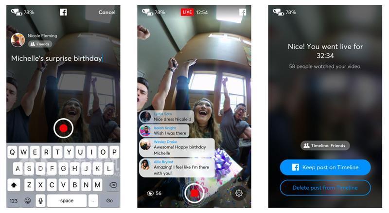 Facebook(臉書)宣布向全球所有用戶開放360度影片 直播,只要有相容此功能的360度攝影機就能辦到。( 翻攝自Facebook官網) 中央社記者吳家豪傳真