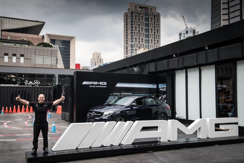 台灣賓士轎車行銷業務處副總裁Markus Henne為Mercedes-AMG 50週年系列活動揭開序幕