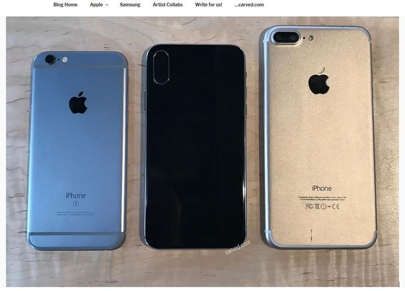 蘋果iPhone 8還沒個影,空殼樣品搶亮相。有手機保護套製造商秀出據稱是iPhone 8的空殼機身照,並指出相關設計很準確,功能設計也符合市場傳言。(圖取自Carved部落格blog.carved.com)