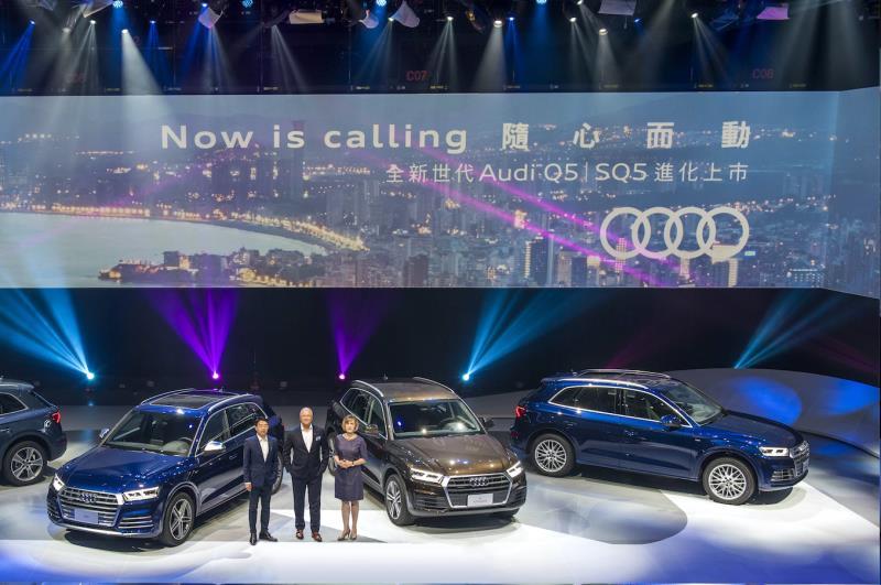 左起:李昌益、Mr.Terence Johnsson 、Ms.Angelika Hilger,共同宣布, Audi Q5 強勢登台。