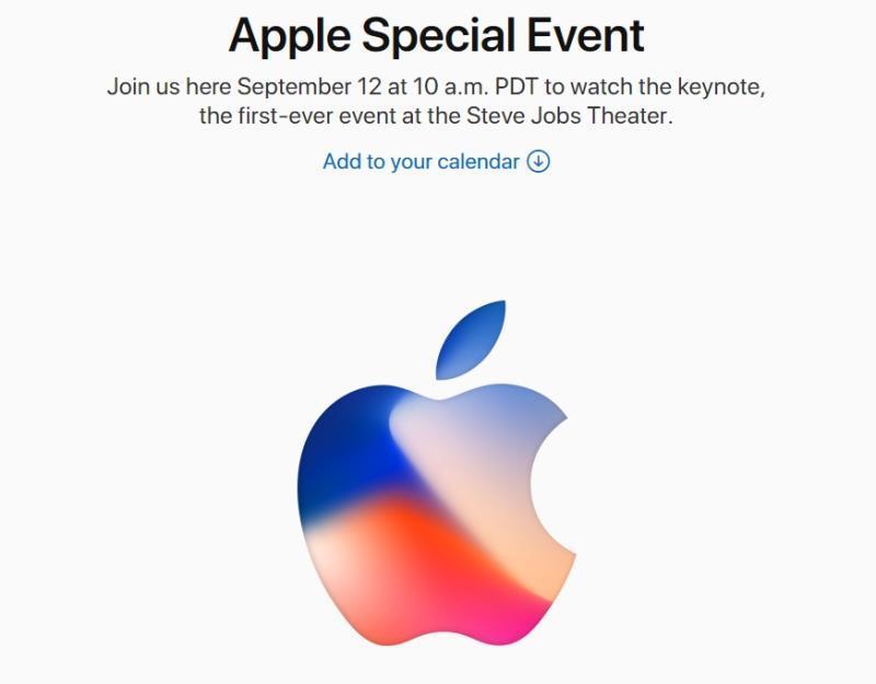 美國蘋果公司8月31日(當地時間)發出邀請函,確定12日舉行新品發表會。(圖取自蘋果公司官網 www.apple.com)