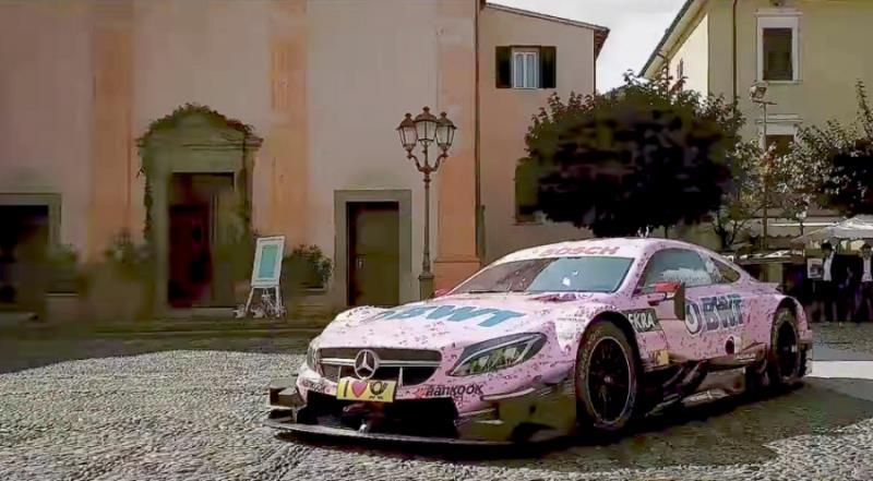 Mercedes-AMG C63 DTM賽車做婚禮用車