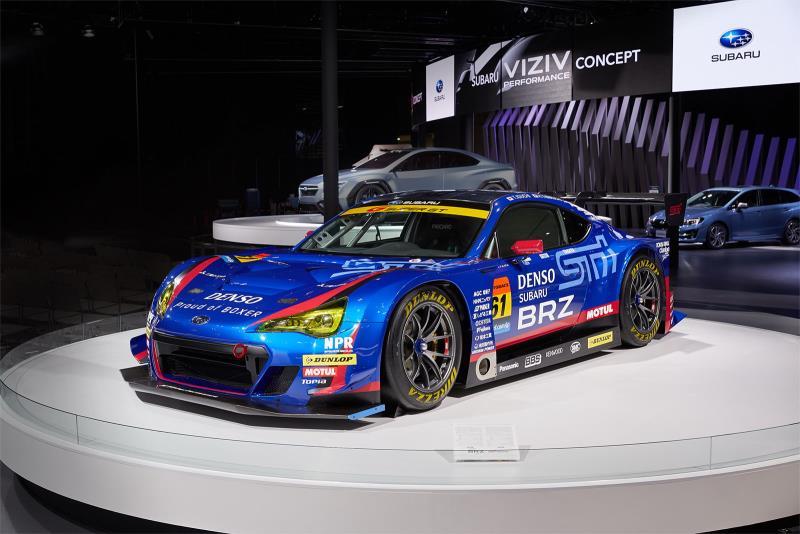 征戰日本Super GT賽事的SUBARU BRZ GT300賽車,是展區中的目光焦點。