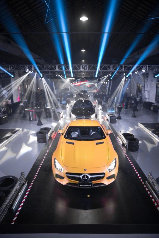 中華賓士AMG 狂潮來襲,現場共展出9部Mercedes-AMG車款,總價超過新台幣6,000萬元。