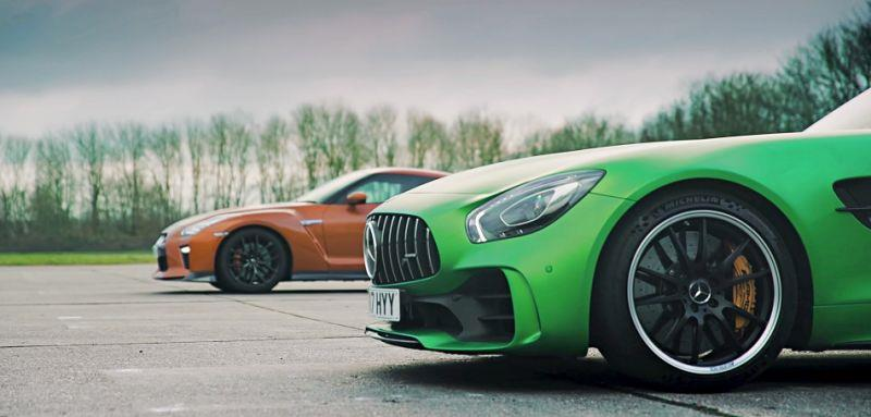 Mercedes-AMG GT R vs  Nissan GT-R「正面對決」影片出爐