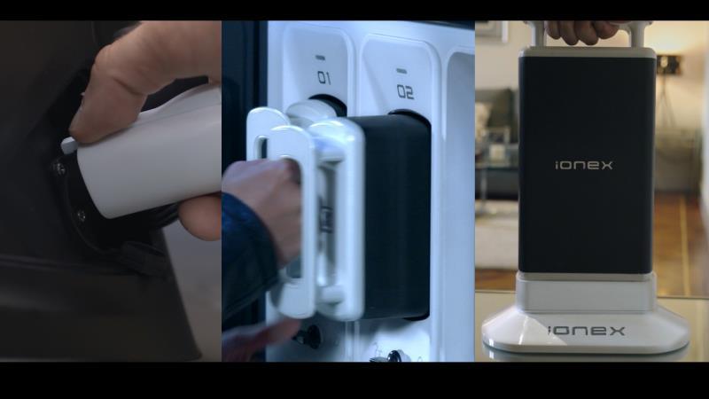 「Ionex車˙能·網」除了在外的交換電池之外,同時提供了在家充電的選擇。