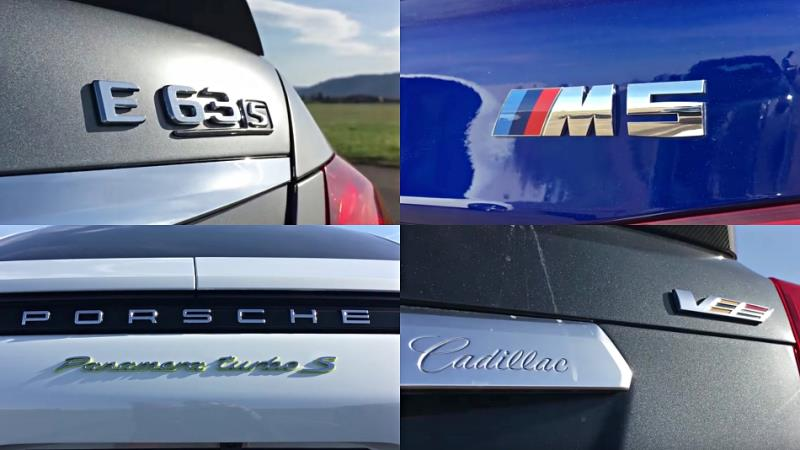 BMW M5、Mercedes-AMG E63 S、Porsche Panamera Turbo S E-Hybrid、Cadillac CTS-V「0-300km/h」加速對決