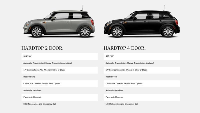美國Mini提供Oxford Edition特仕車 入門價19,750 美元