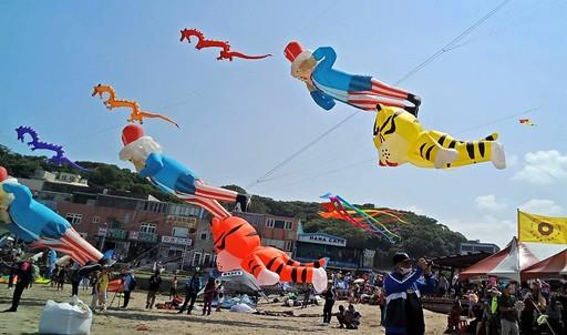 2018北海岸風箏節盛大開幕 各國風箏齊聚石門白沙灣