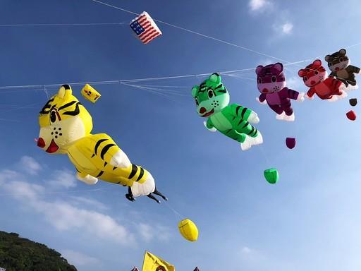 8個國家,20支隊伍,百位選手齊聚石門放風箏