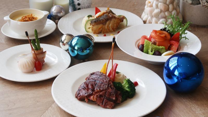 飯店特別於12/22至12/31期間推出聖誕雙人分享餐,讓饕客們完整享受專屬澎湖的美食饗宴。
