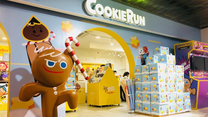 「勇敢餅乾」在韓國快閃店