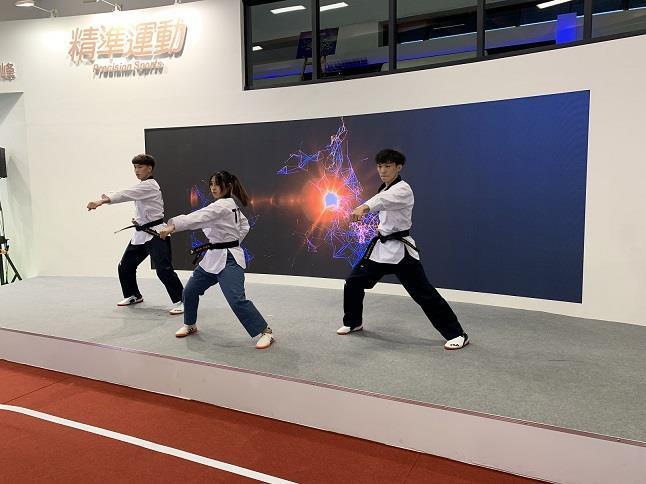 陳柏凱、蘇佳恩及林禹翰的跆拳道表演