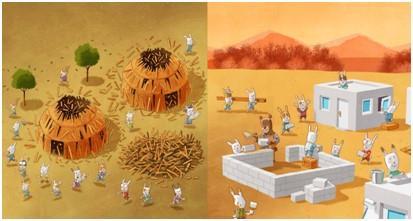 郝廣才與塔塔羅蒂攜手創作繪本「乳香樹的天空」。