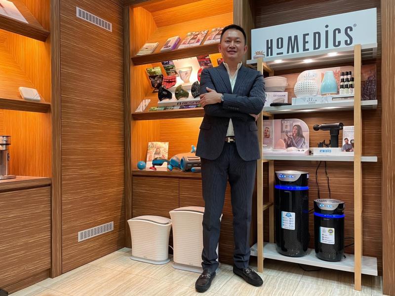 郭永福說,重視居家空氣品質 ,HOMEDICS 推出UV離子殺菌空氣清淨機。