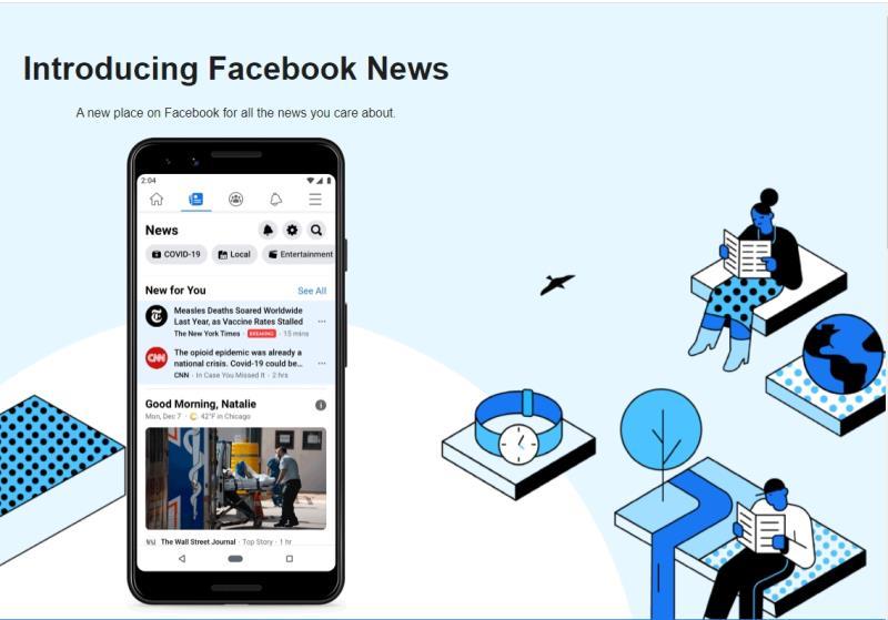 臉書新聞英國上線 致力維繫在地新聞業發展