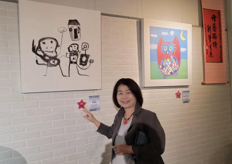 曾任文建會主委,熱愛藝術創作的翁金珠,用行動支持ˋ這些星星兒。