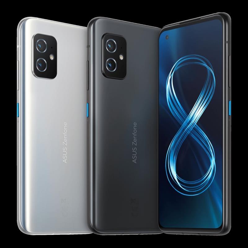 電腦品牌廠華碩13日發表5G智慧型手機Zenfone 8,搭載5.9吋120Hz AMOLED全螢幕。(圖取自ASUS官網asus.com/tw)