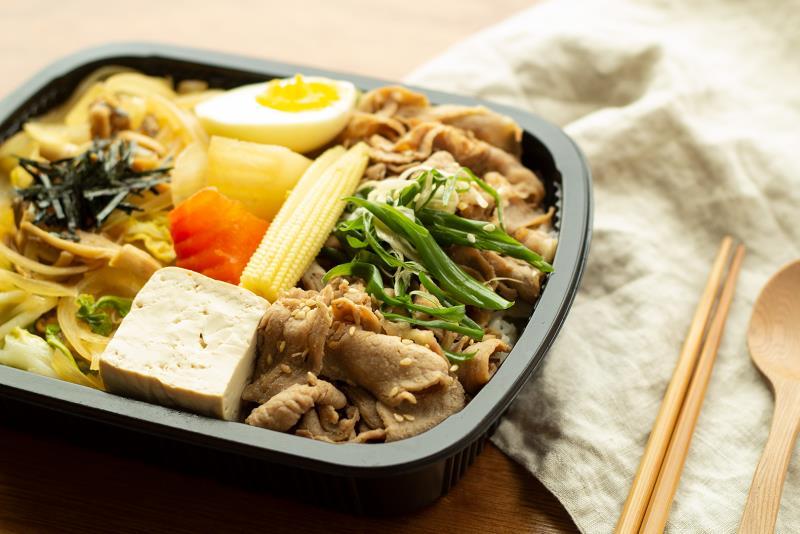 經濟餐盒豚肉壽喜燒餐盒,每周更新菜色