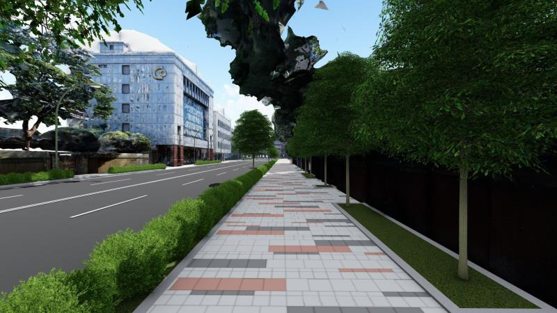 「板橋府中美學示範基地」計畫示意圖。