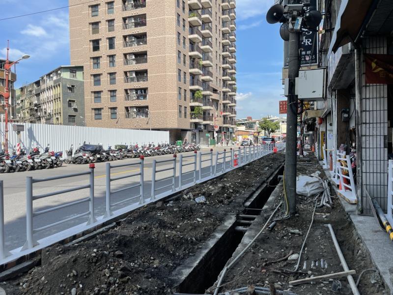 「板橋府中美學示範基地」改造工程進行中。